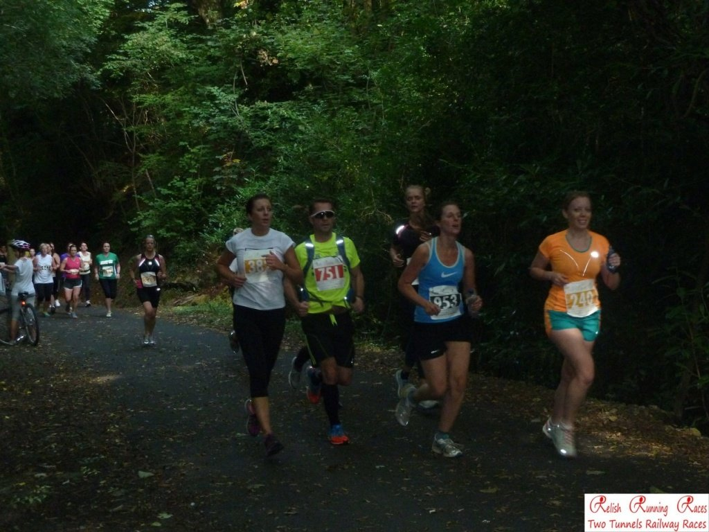 Running Bath Two Tunnels 10k 2014 (on the right in orange and green)