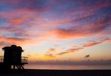 Beautiful Florida Beach Sunset View