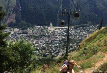View from Chamonix Vertical Kilometre Trail Running