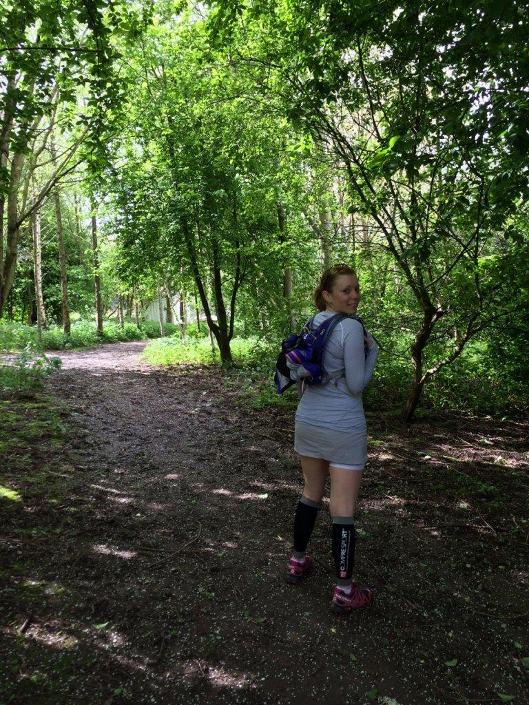 Wearing UD vesta on trails near home