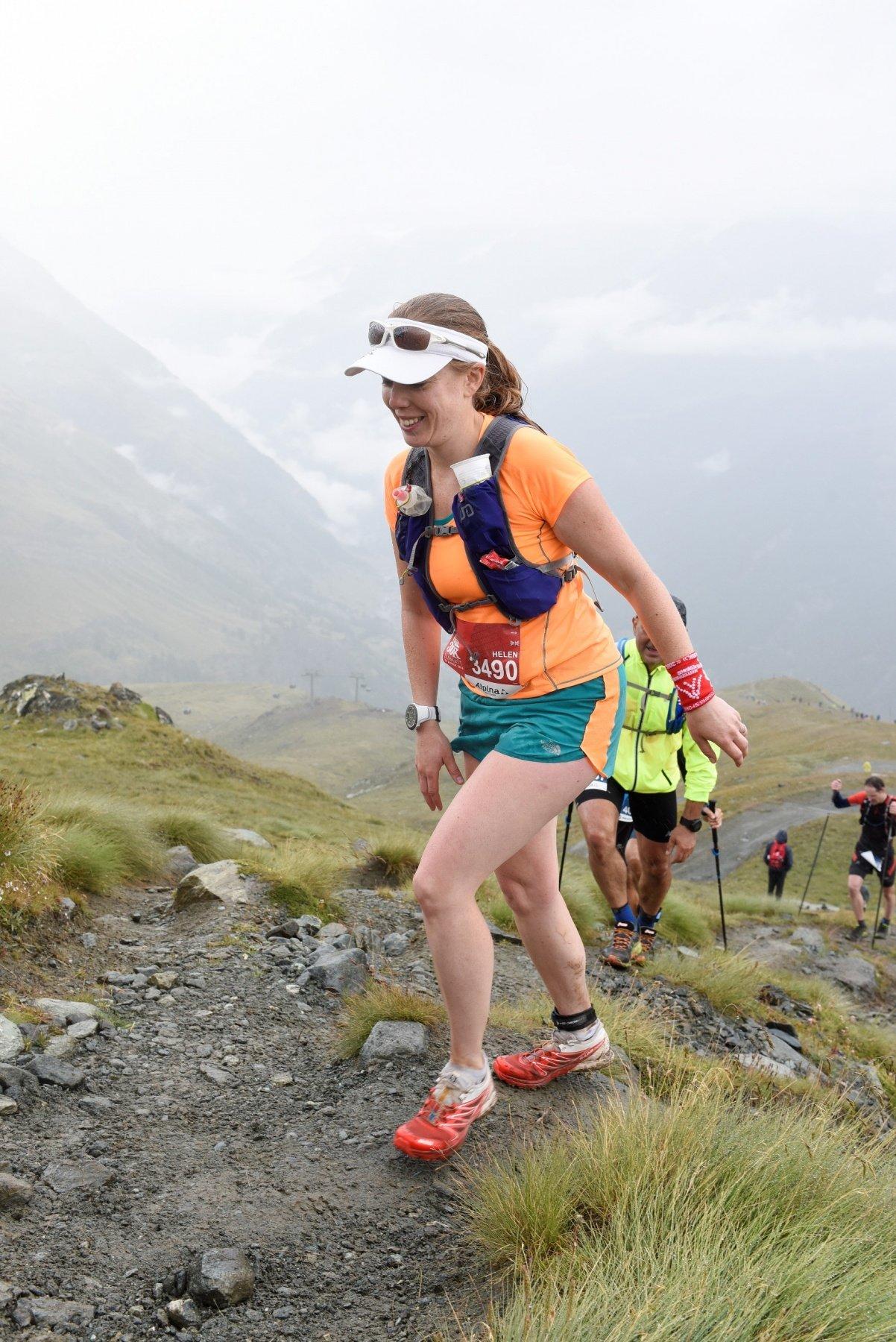 Schwartzsee climb during Matterhorn Ultraks