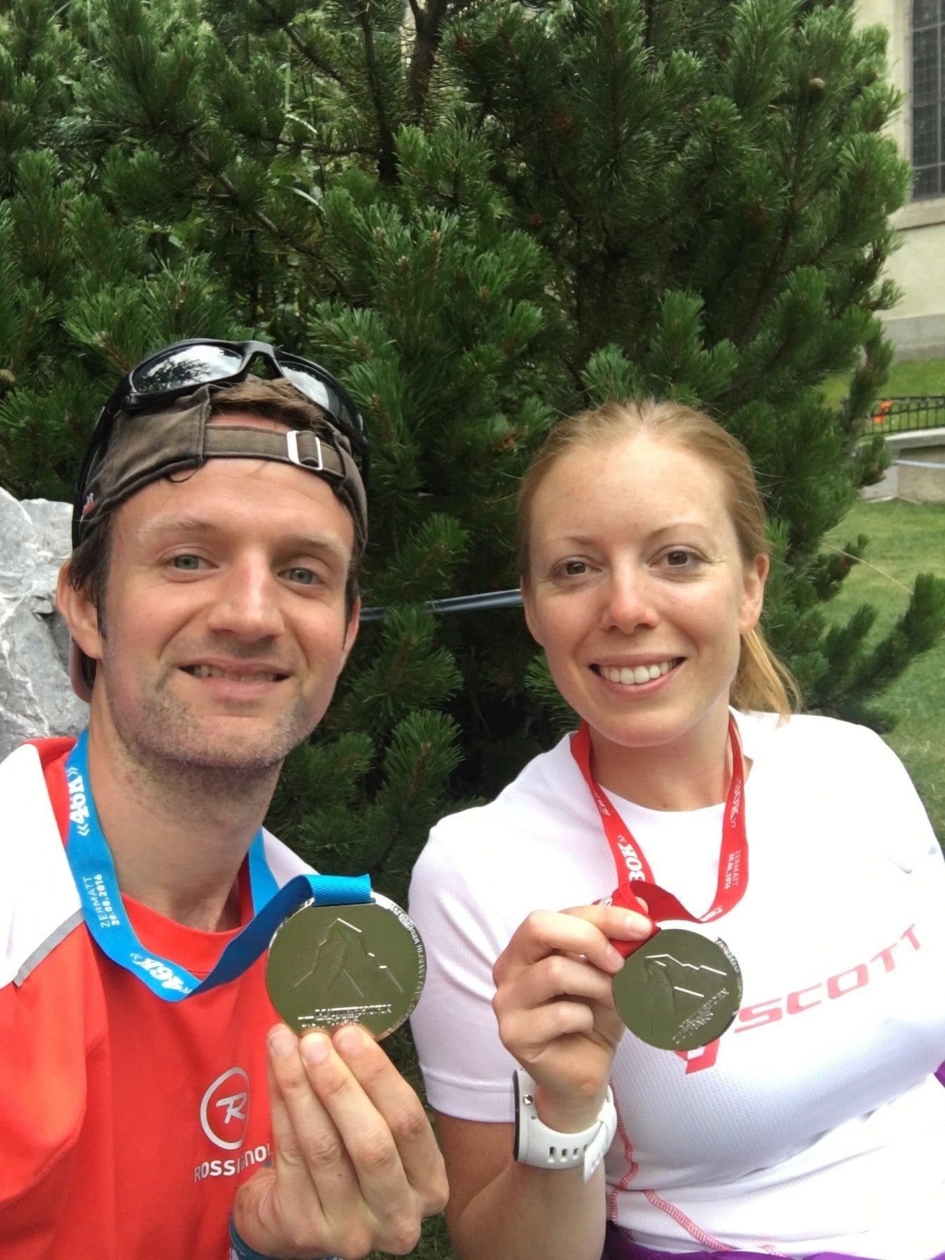 Matterhorn Ultraks finish medals