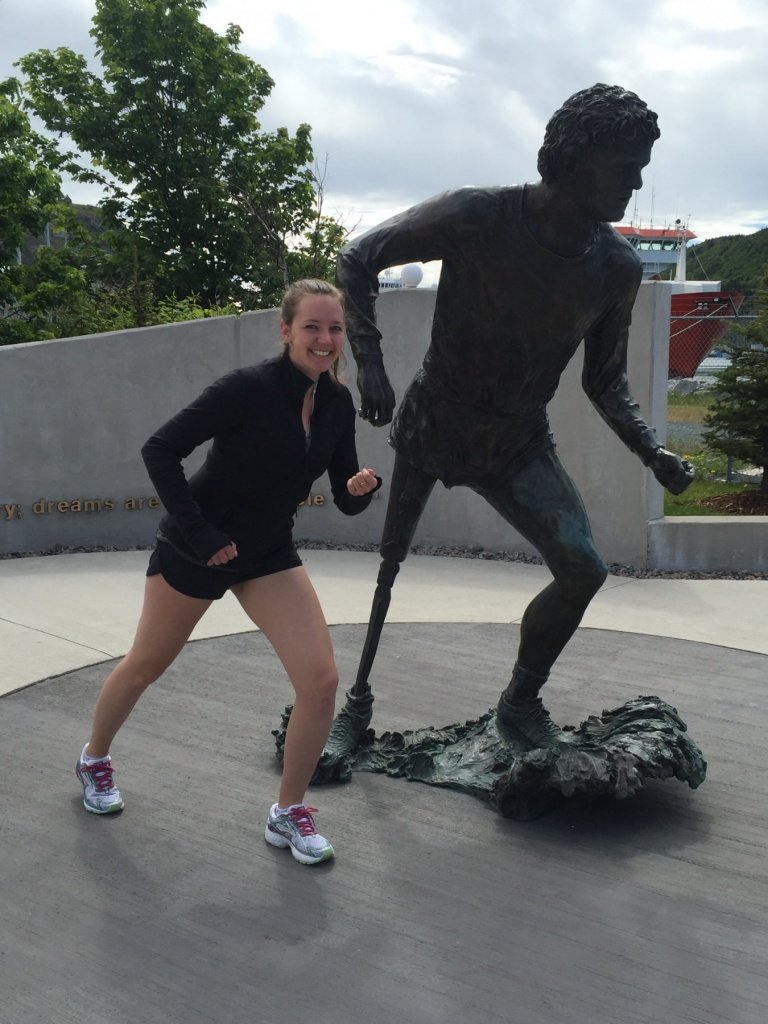 Terry Fox monument in Newfoundland