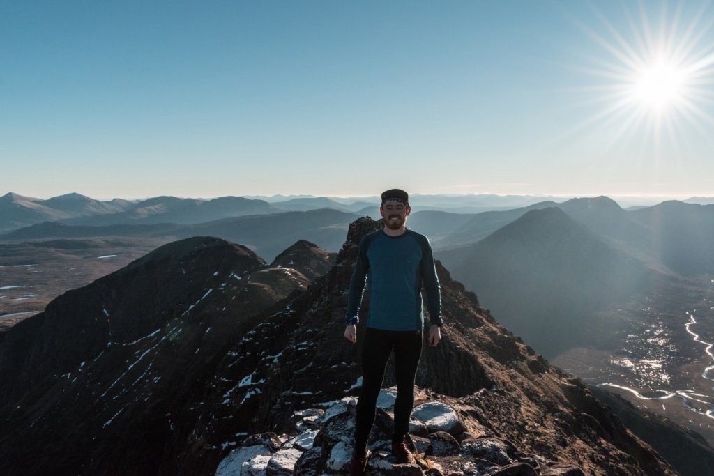 Ross on An Teallach Ridge
