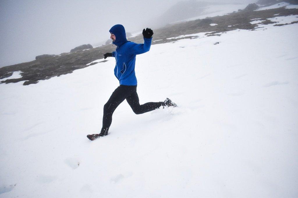 Ross at Beinn Ime enjoying some deep snow descents, fun!