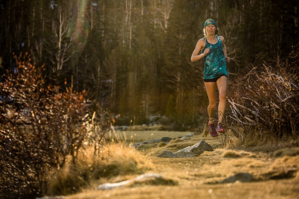 Running at home in the Sierras. Photo Christian Pondella