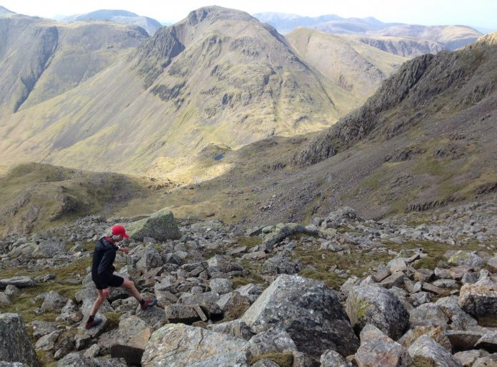 Nicky on way to Great End - Photo credit: Lee Procter / Inov-8