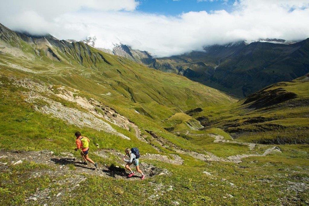 Running the Tour Du Mont Blanc with Jenn Shelton. Photo Andrew Burr