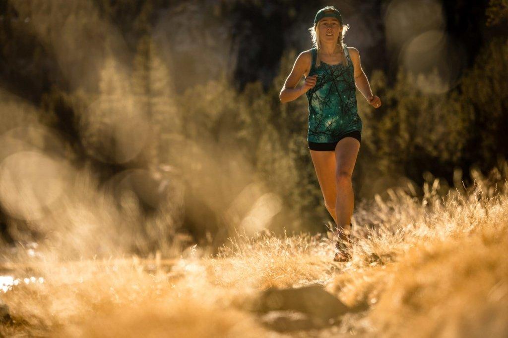 Morgan Gonzalez, trail running - Rock Creek, Sierra Nevada Mountains, California