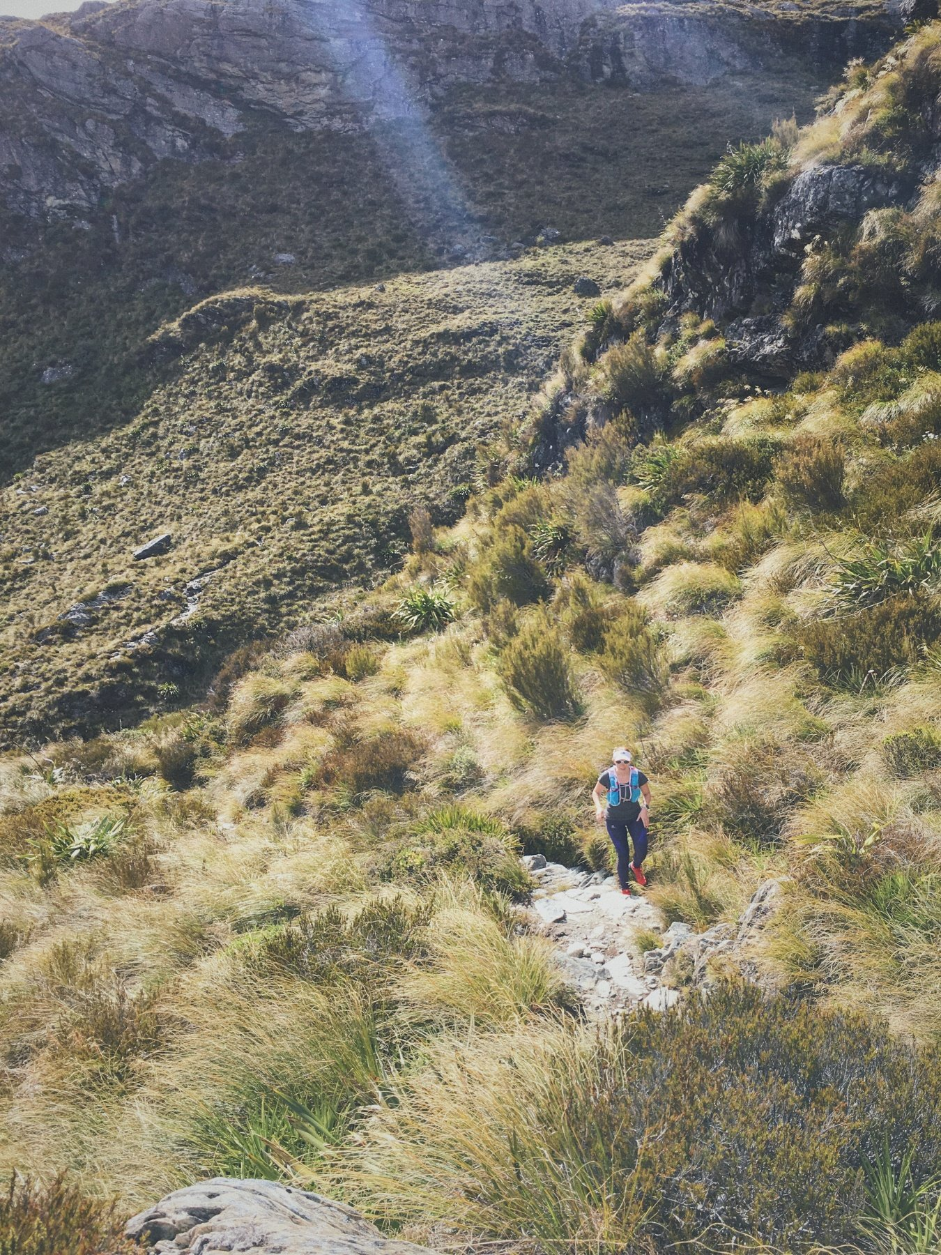 Attacking a climb along the Routeburn Track