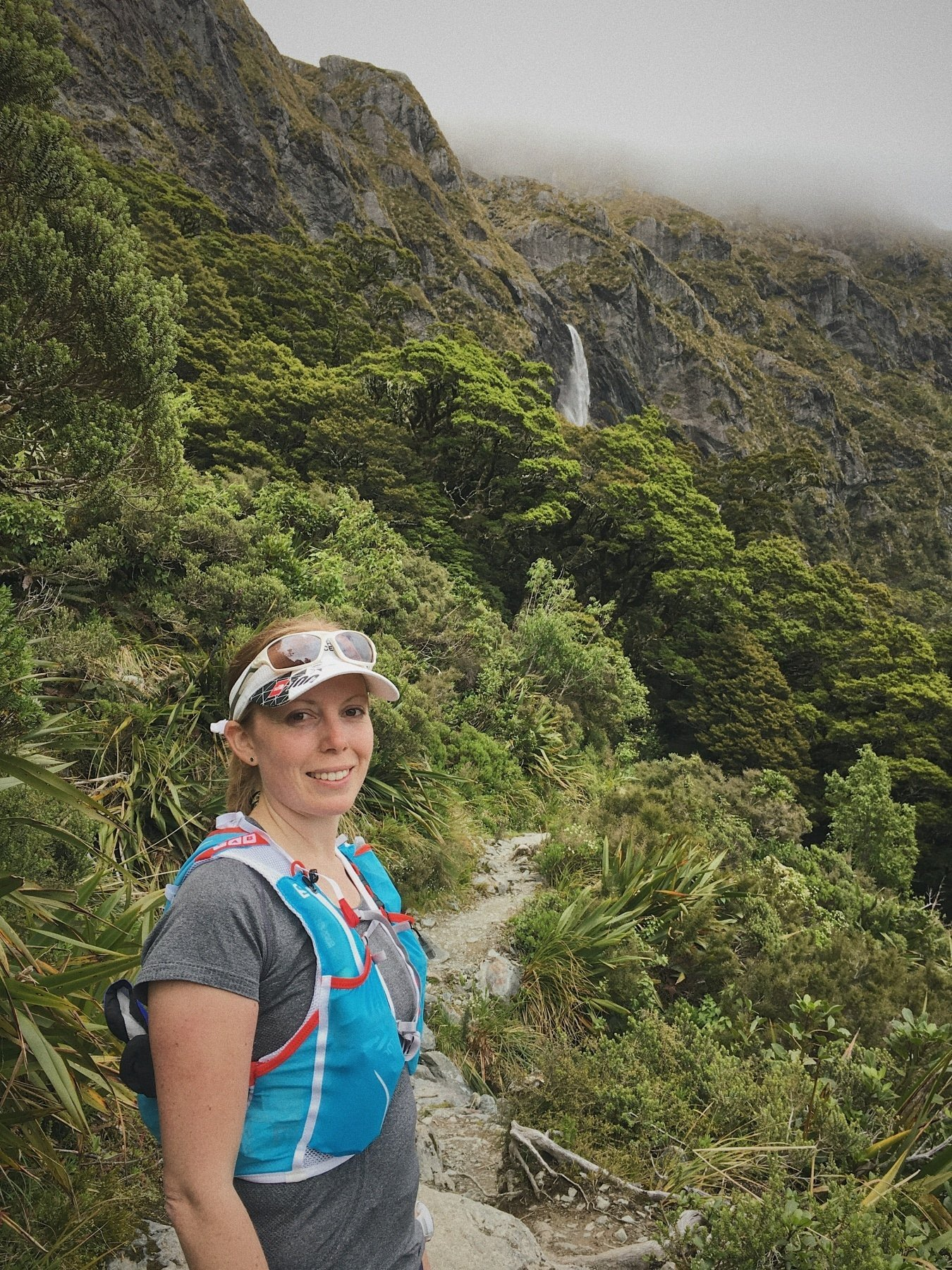 Another beautiful waterfall on the Routeburn Track