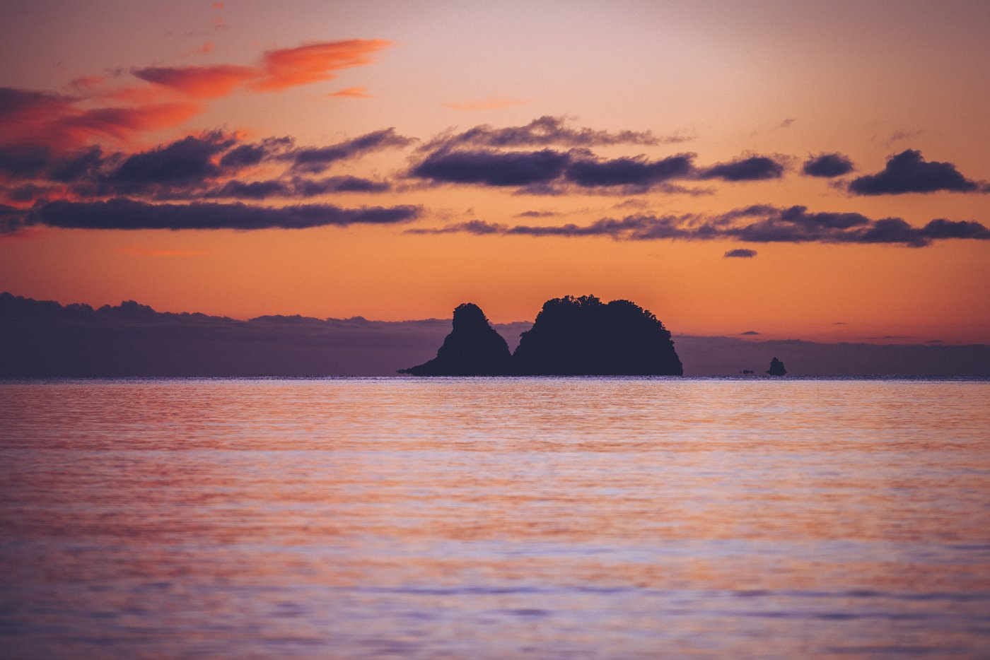 Coromandel beach sunrise