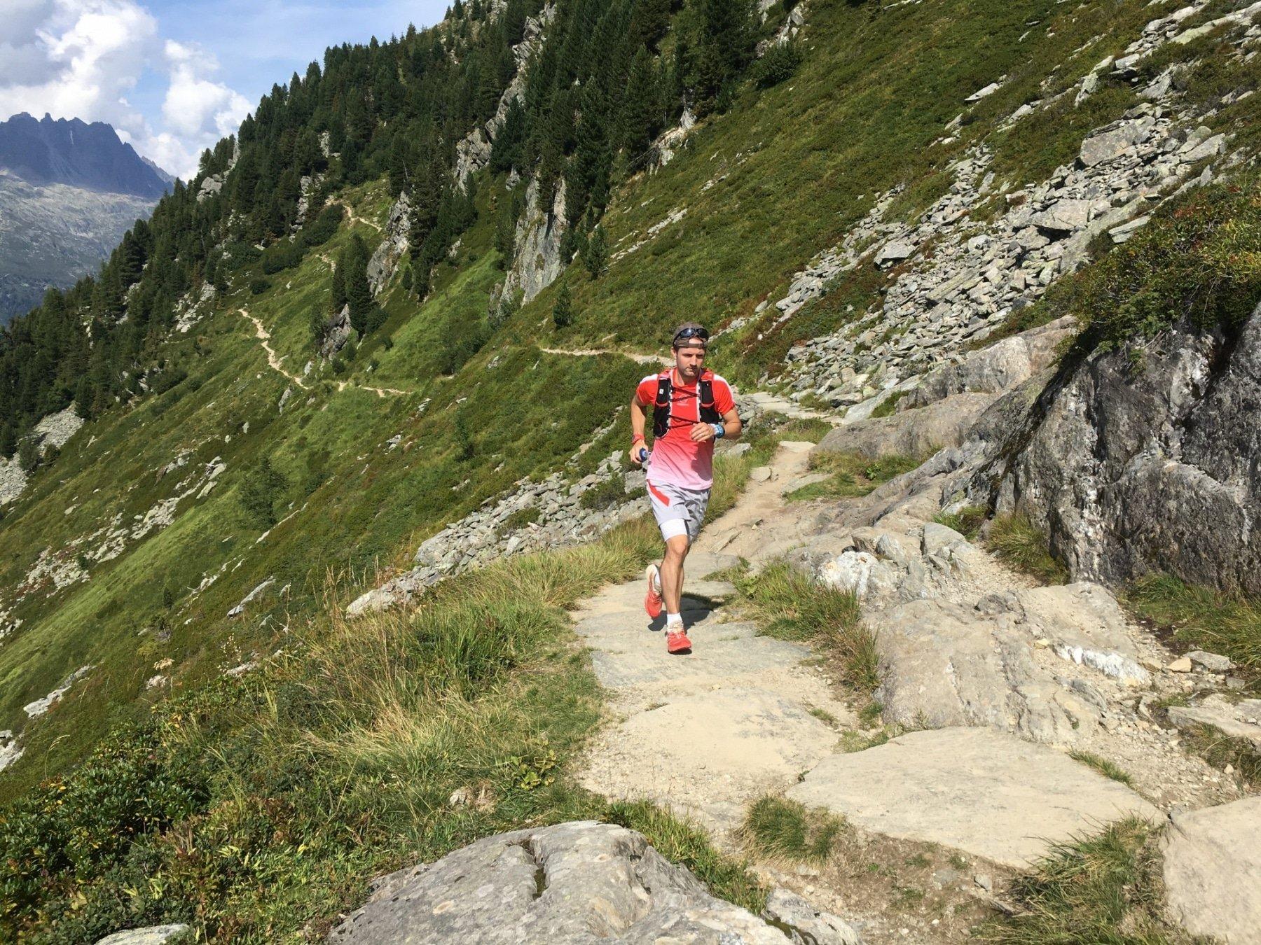 Alastair running on a local circuit - Trail & Kale running streak
