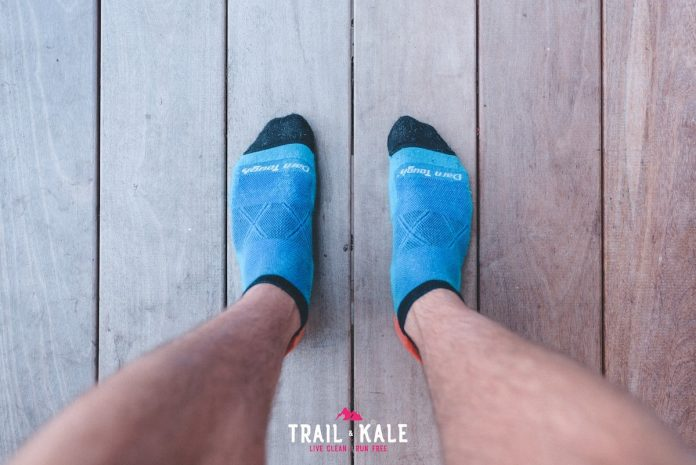 Darn Tough running socks review - Vertex No Show Tab Ultra-light cushion - Trail & Kale-1-min