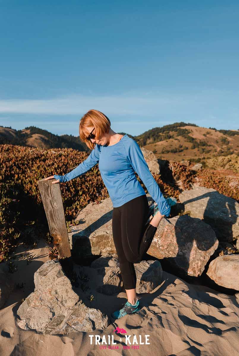 Stio Clothing - stio women's divide tech tee long sleeve - trail & kale wm-4