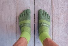 Injinji Trail Midweight Mini Crew review Trail Kale web featured