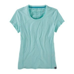 Title Nine Grace Short Sleeve Top robins egg