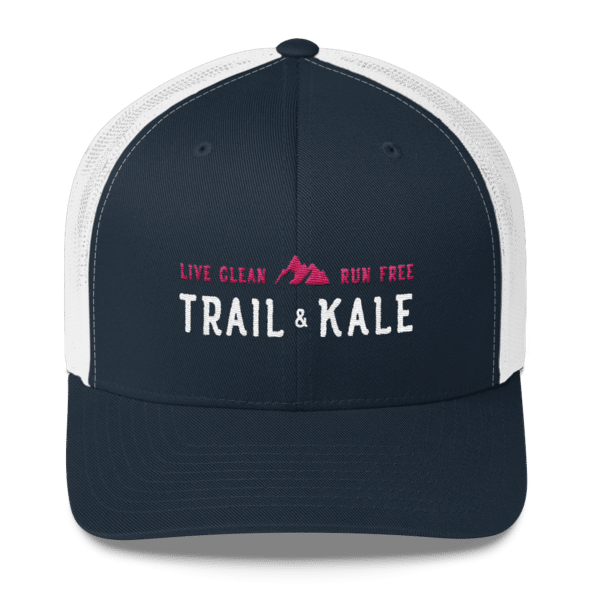 trail and kale trucker hat