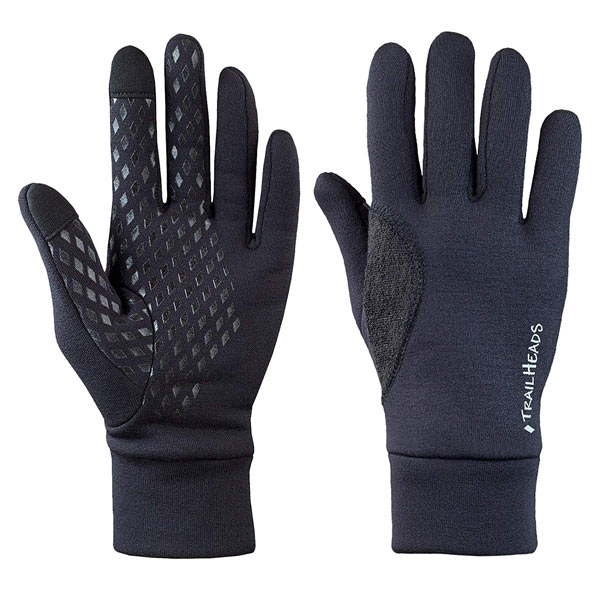 Best running gloves TrailHeads Power Stretch Running Gloves trail and kale trail running