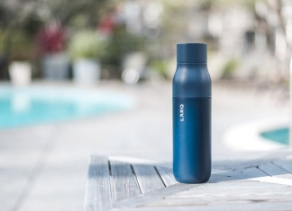 LARQ Bottle review self cleaning water bottle adventure lifestyle Trail and Kale web