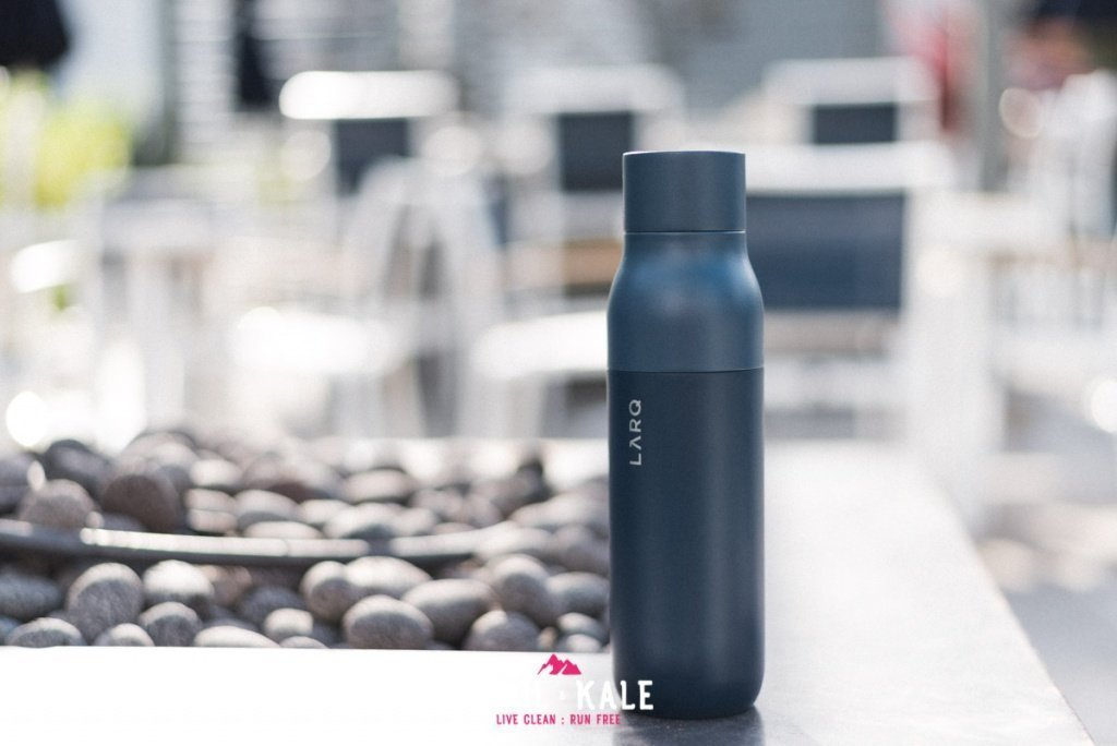 LARQ Bottle review self cleaning water bottle adventure lifestyle Trail and Kale wm 11