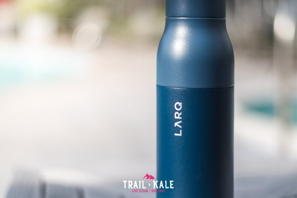 LARQ Bottle review self cleaning water bottle adventure lifestyle Trail and Kale wm 2