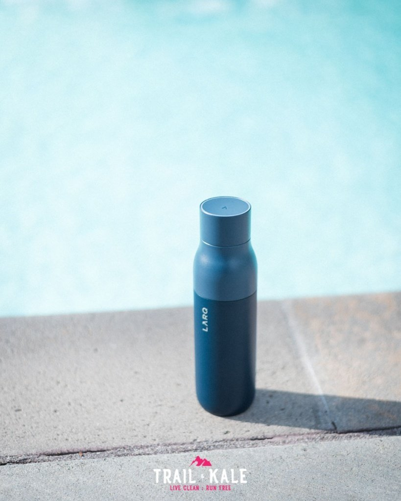 LARQ Bottle review self cleaning water bottle adventure lifestyle Trail and Kale wm 7