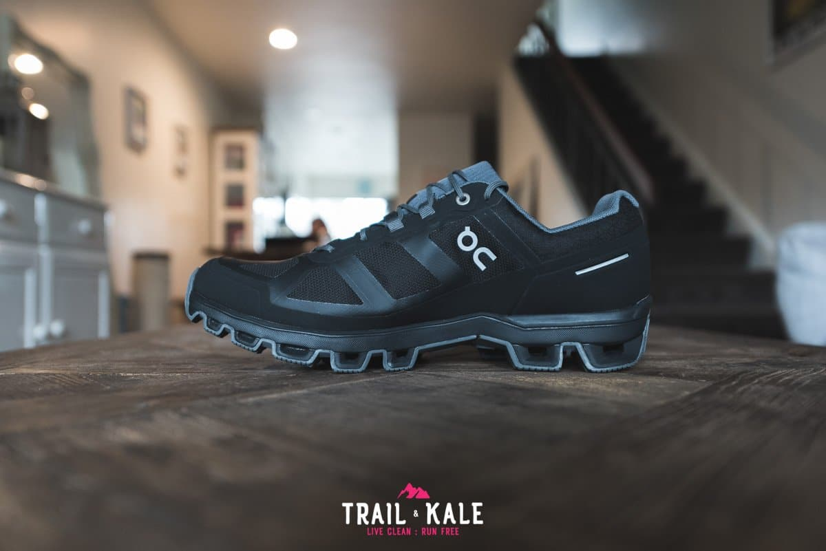 On Cloudventure Waterproof review 2019 Trail Kale trail running web wm 4