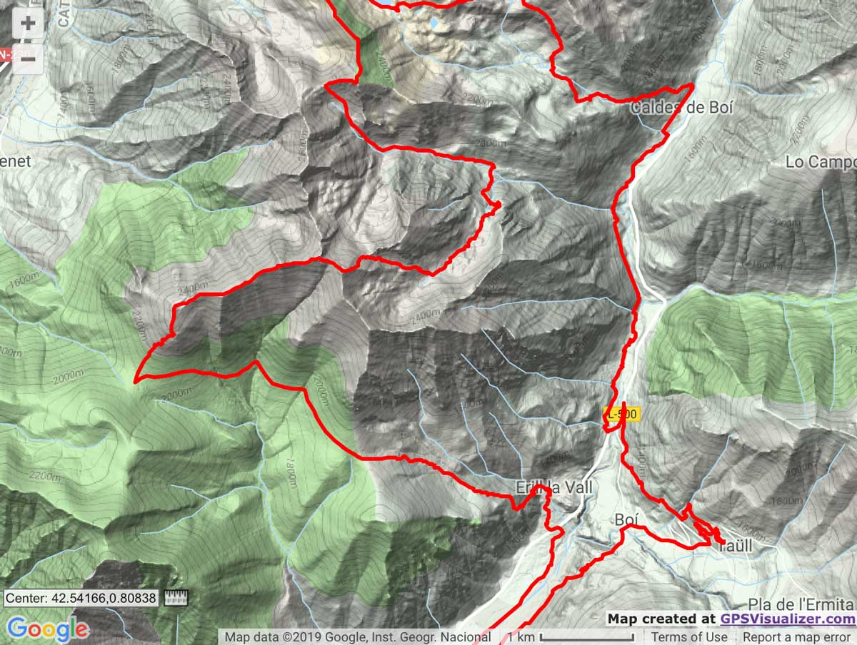 Buff Epic Trail 42k route map trail kale