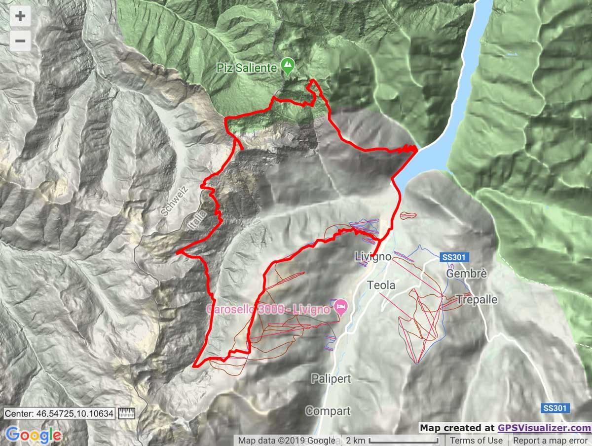 Livigno SkyMarathon route map trail and kale