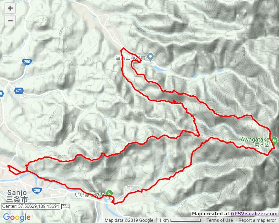 Mt Awa SkyRace map