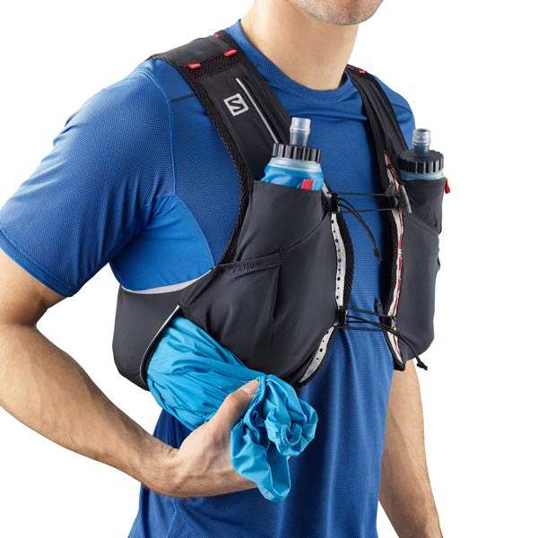Salomon S Lab Sense Ultra 5 set best trail running hydration vests for men trail and kale 2