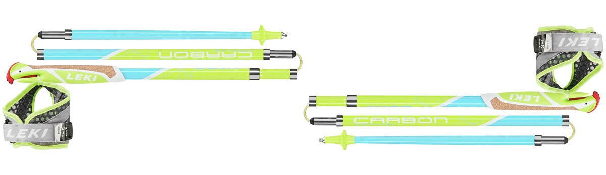 LEKI Flash Carbon trekking Poles best trail running poles trail and kale