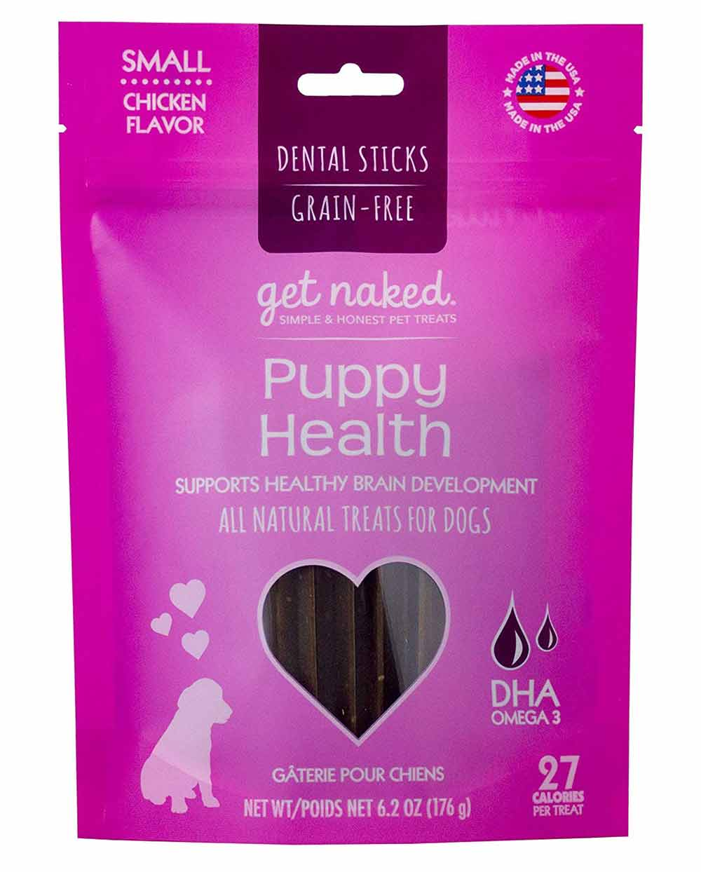 Get Naked Puppy Dental Chews Adventure Pup Essentials Trail and Kale