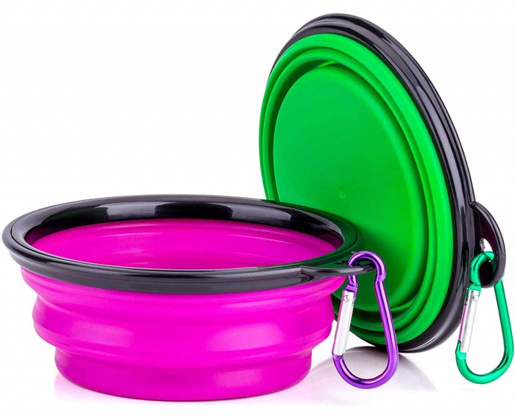 Silicone Dog Water Bowl Adventure Pup Essentials Trail and Kale