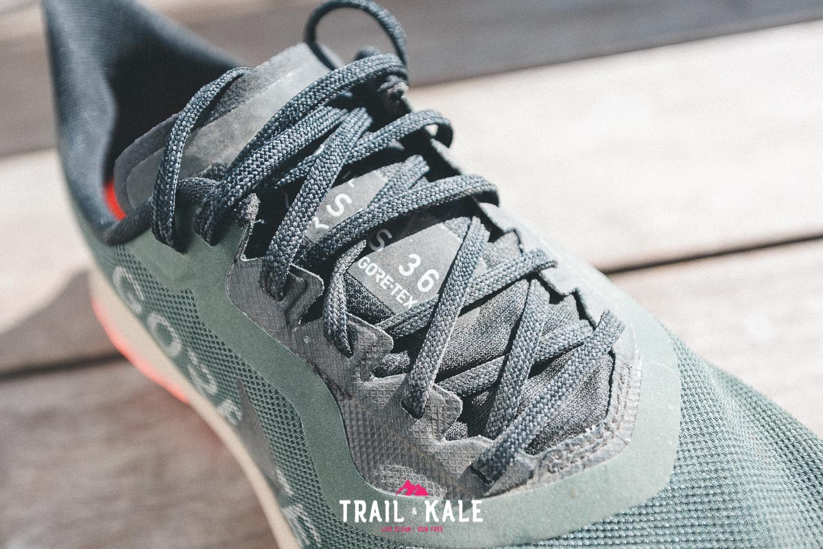Nike Pegasus 36 Trail GTX tongue and laces