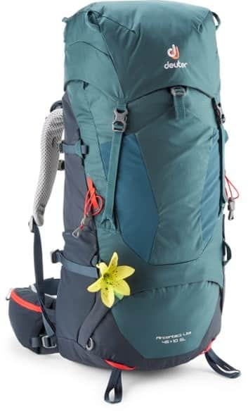 Deuter Aircontact Lite 45 10 SL Pack Womens trail and kale