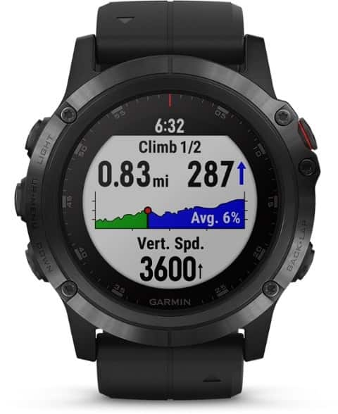 Garmin Fenix 5X Plus Sapphire GPS Watch trail and kale