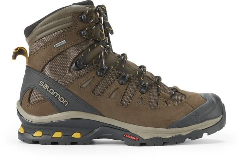 Salomon Quest 4D 3 GTX Hiking Boots trail and kale