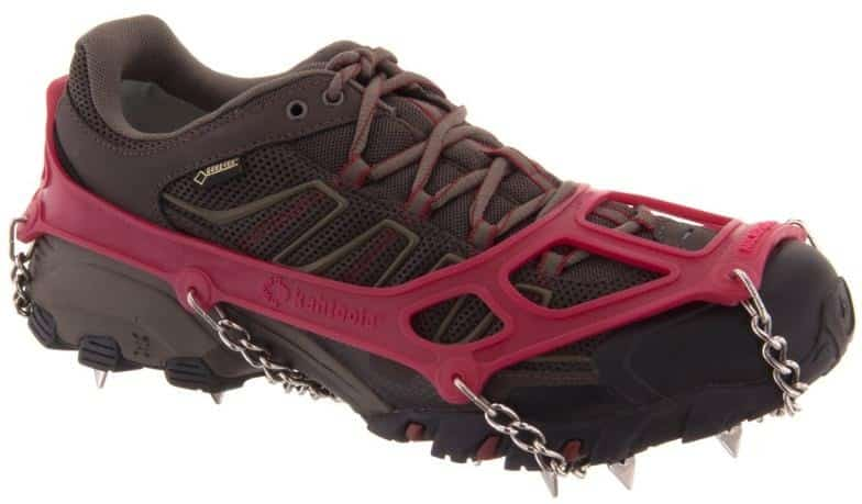 kahtoola microspikes traction system trail and kale