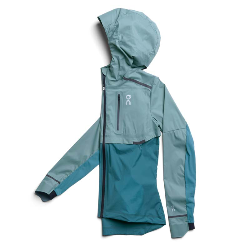 On Running Womens Weather Jacket review Trail and Kale