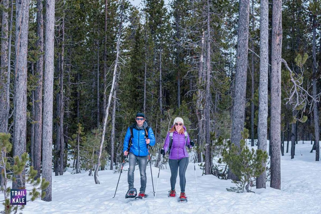 Guide to Snowshoeing For Beginners trail and kale wm 22