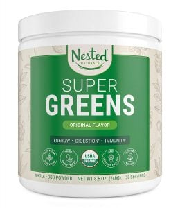 nested naturals super greens trail and kale