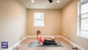 Lululemon Easy Yoga Stretches For Runners trail and kale Upward Dog