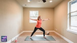 Lululemon Easy Yoga Stretches For Runners trail and kale Warrior 2 Pose