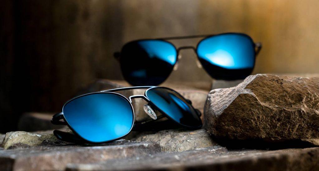 randolph aviator matte black with polarized cobalt lenses trail and kale 6