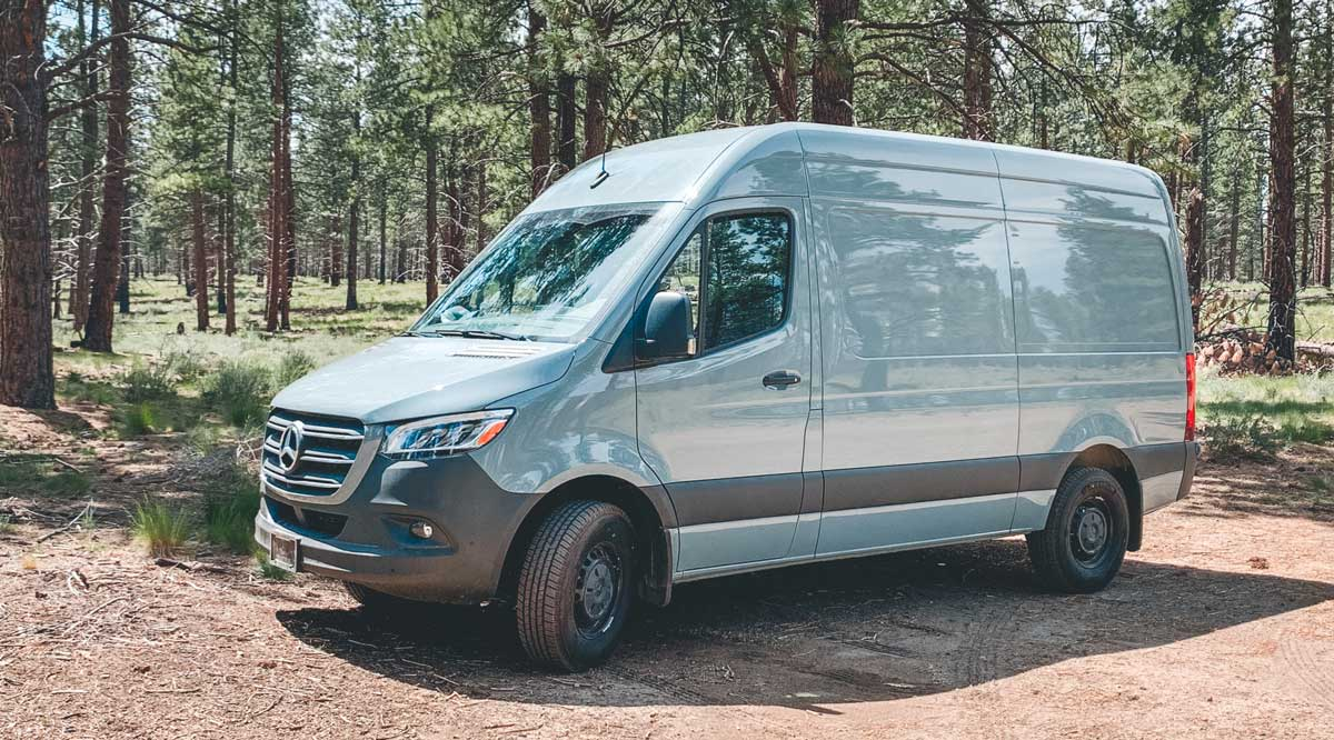 essential factory options for our Sprinter van conversion - high roof sprinter van 144 wheelbase