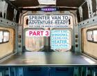 Van Build PART 3: Getting Flarespace Flares Installed in our Sprinter Van (Plus Windows, Espar Heater & More)