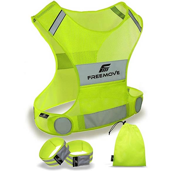 Freemove reflective running vest Best reflective running vests Trail and Kale
