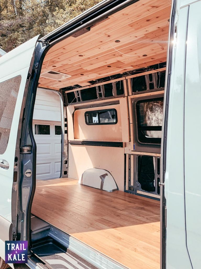 Installing wood panelling in our DIY Sprinter van conversion trail and kale web wm 10